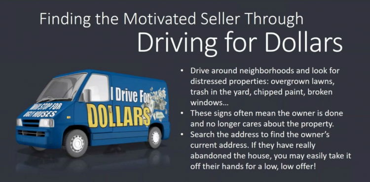 finding motivated sellers through driving for dollars