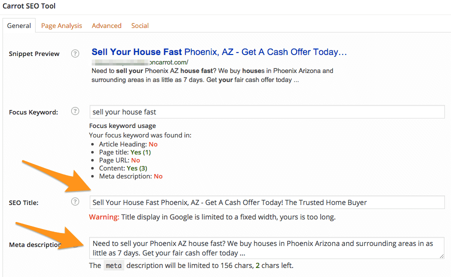 edit seo title for search results