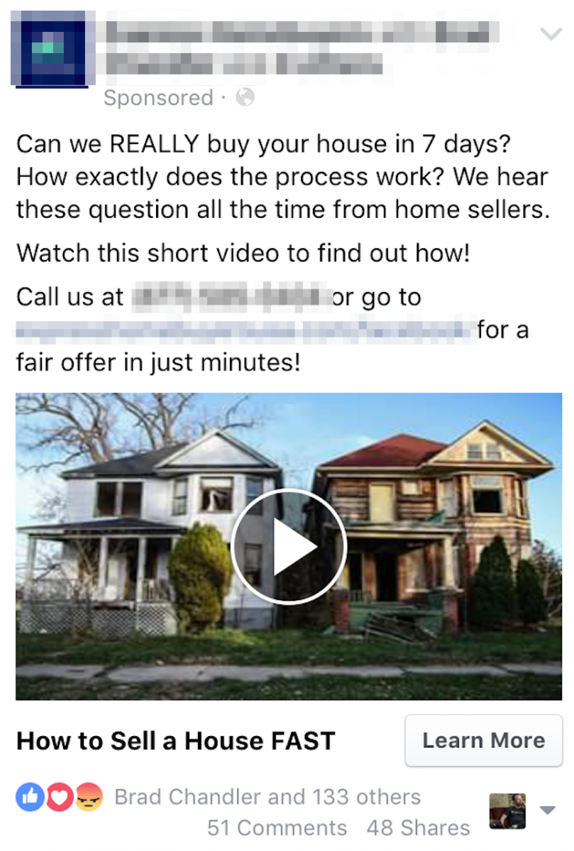 facebook ads for real estate investing video ad example