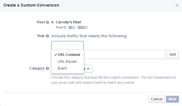 facebook retargeting fixed custom conversion 4