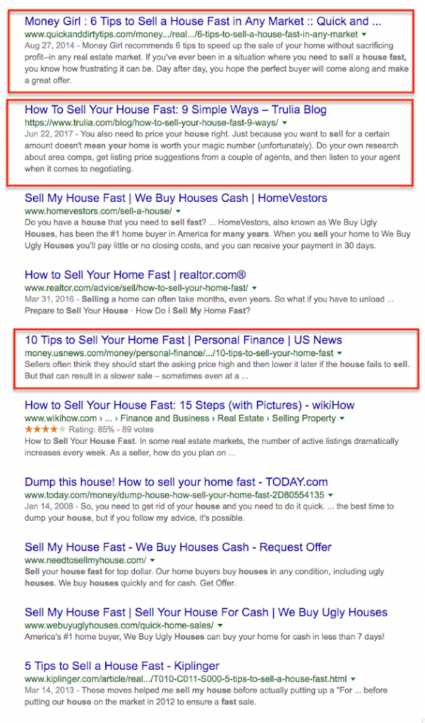 real estate copywriting SEO titles