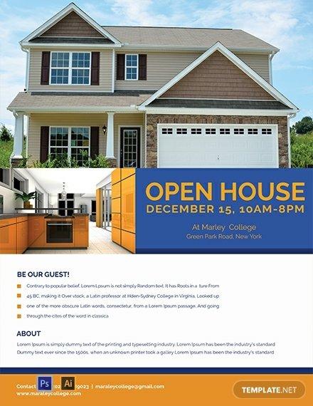 open house ideas fliers