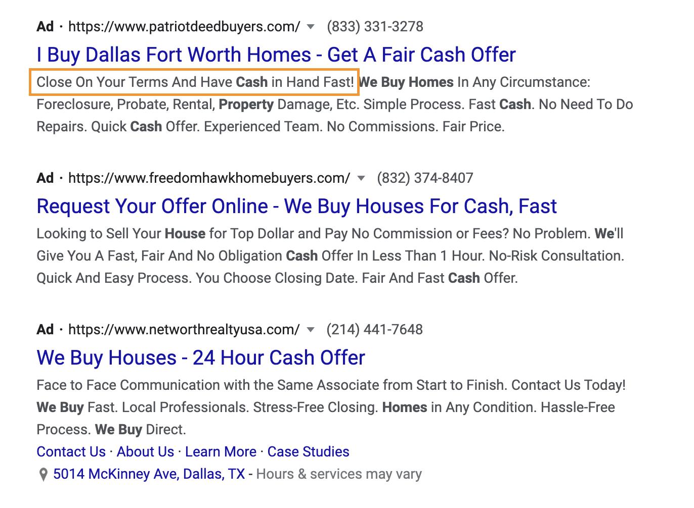 google ads Use Emotion and Senses