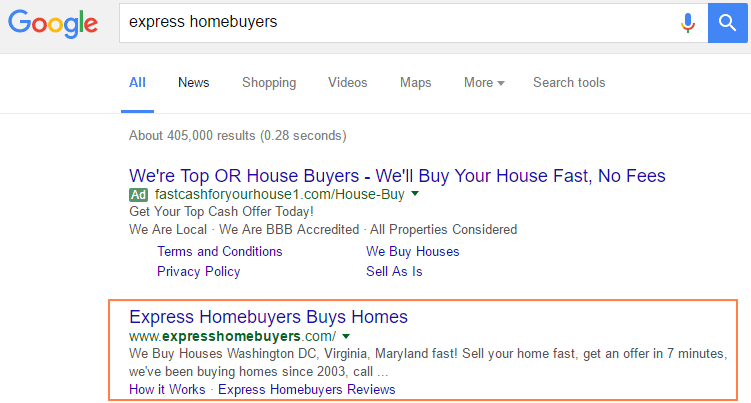 home page rank