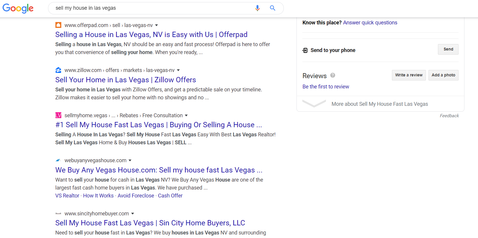 real estate ranking google search