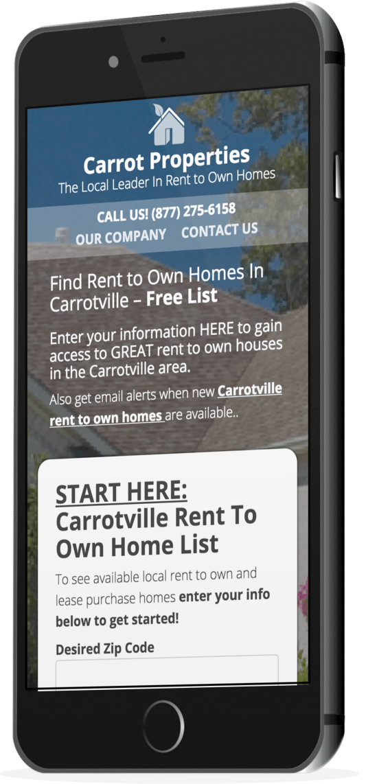 Rent To Own Websites - Carrot