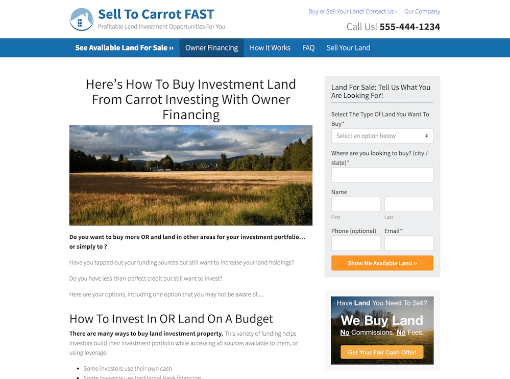land-buyer-site