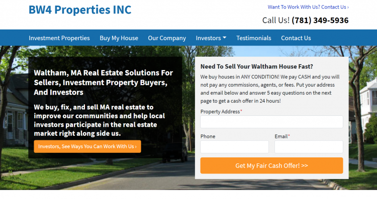 landing page for real estate ppc