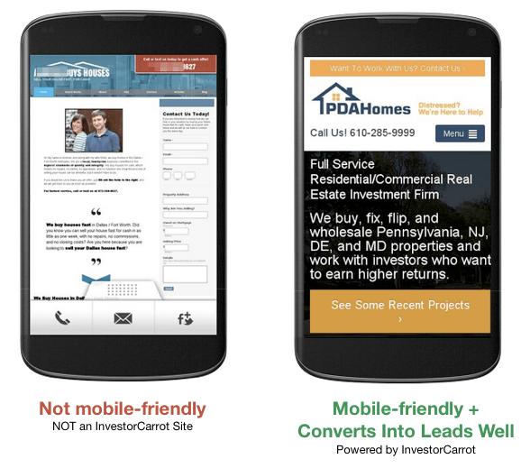mobile optimized websites for real estate investors