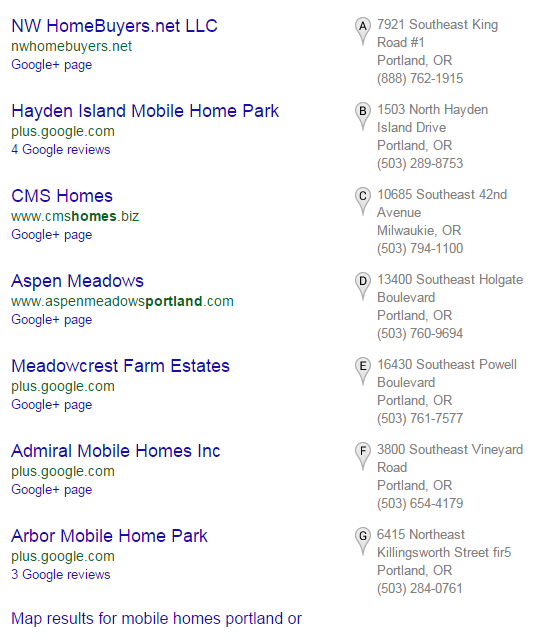 Mobile Park Google Search Can Show You Areas To Generate Leads