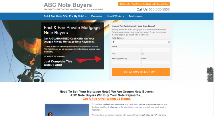 InvestorCarrot note buyer website