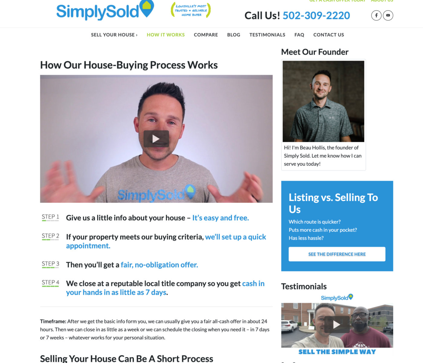 real estate website how it works page