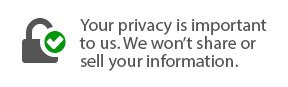 your privacy is important to us