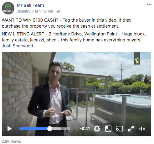 real estate agent listing on facebook
