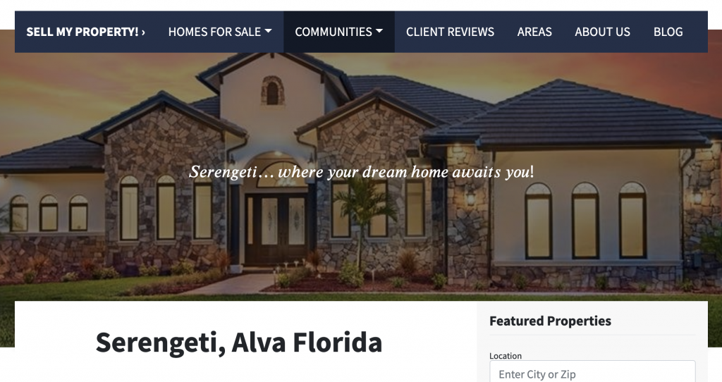 real-estate-agent-website-location-pages