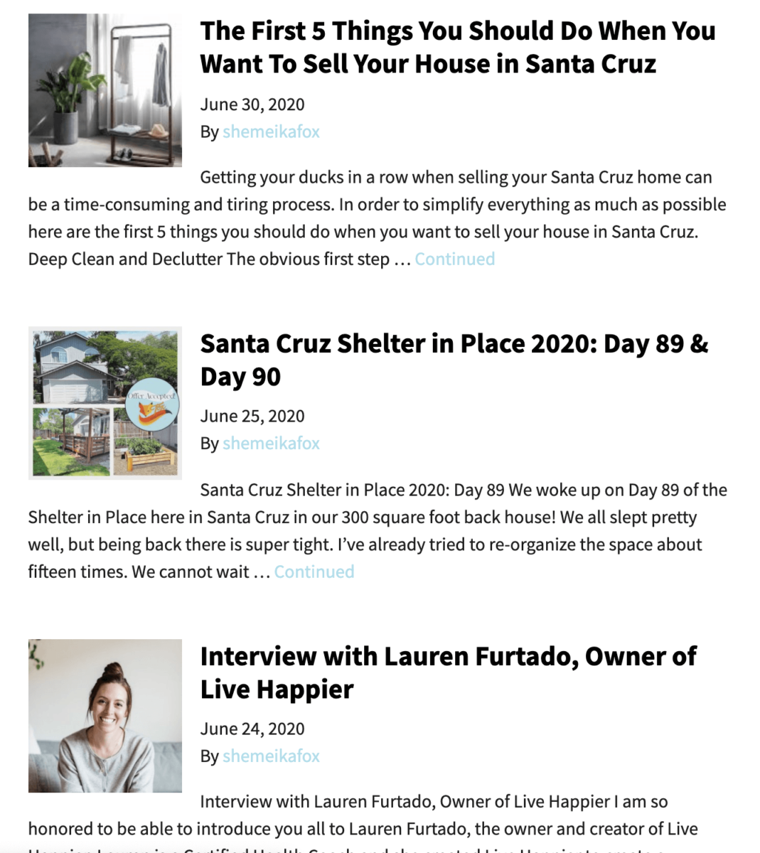real estate agent blog content