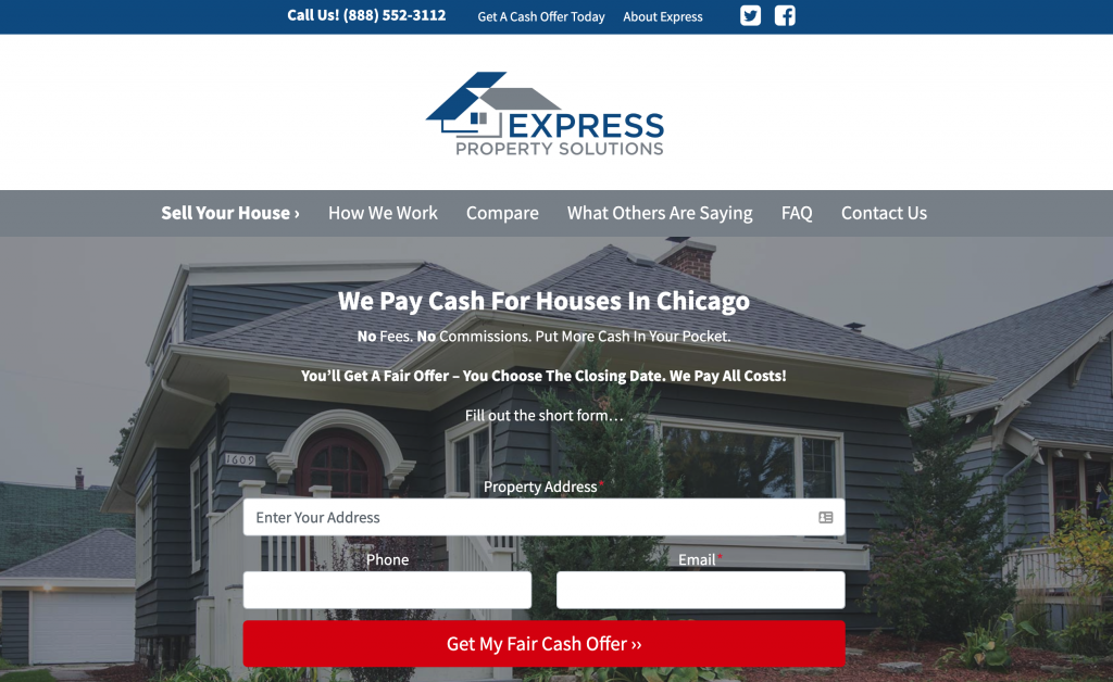real estate investor website city page template