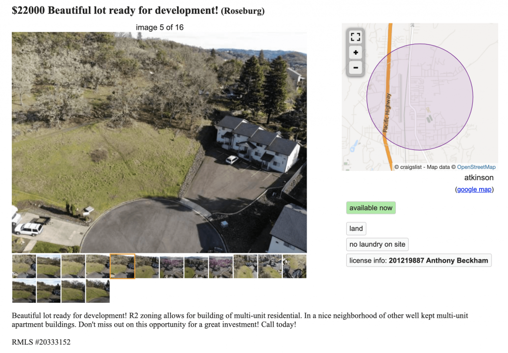 real estate listings on craigslist