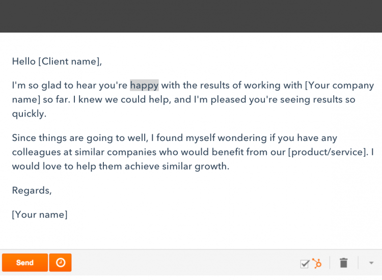 Hubspot Lead Generation Email Example