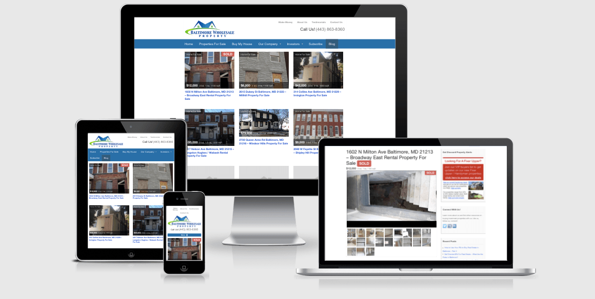 responsive property listing website