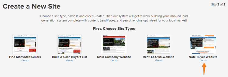 Select note buyer website