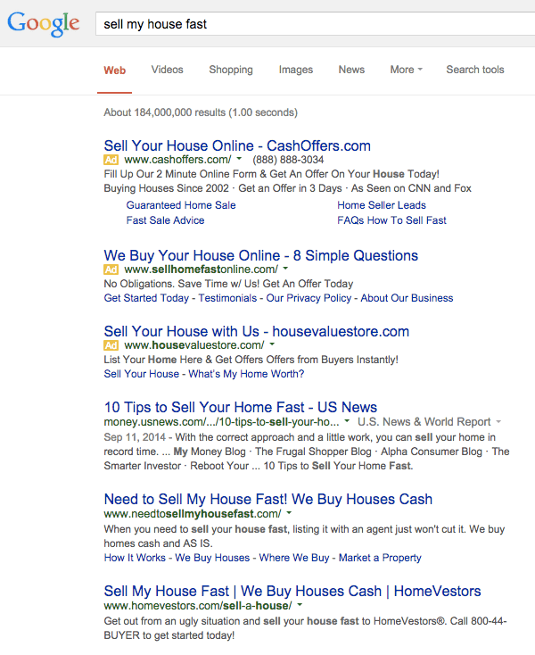 motivated house seller leads seo