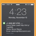 engage with your lead via text