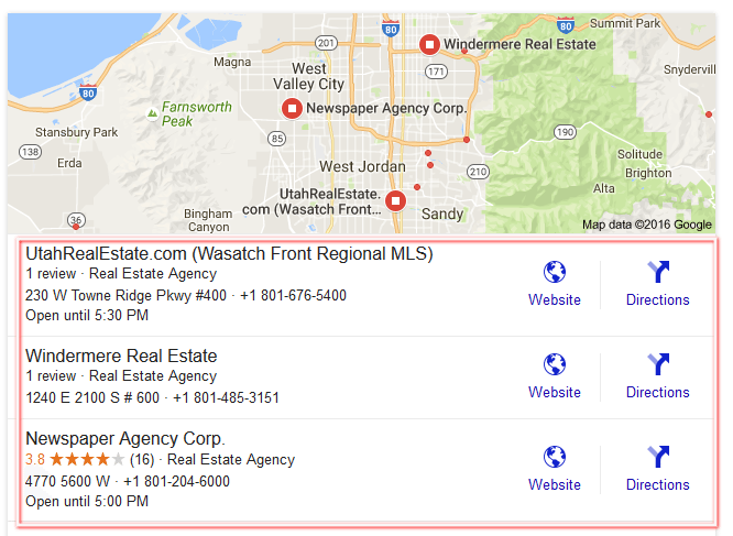 seo real estate map