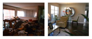 Compare - Before & After - we will buy your house in any condition