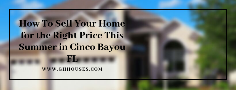 We purchase properties in Cinco Bayou FL