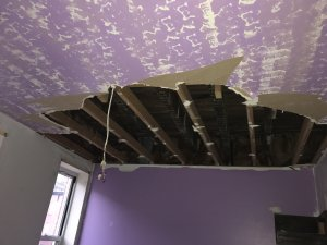 damaged ceiling baltimore house