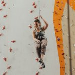 woman rock climbing in Fort Worth Texas