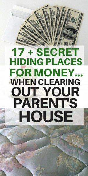 secret hiding places for money in your parent's house