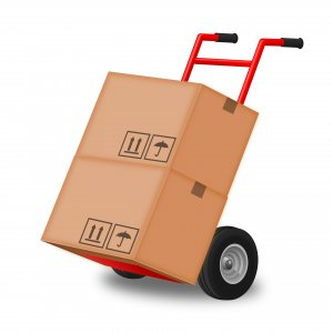 supplies for cleaning your parents' home - moving boxes