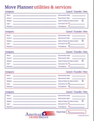 Move Planner Form