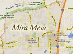 mira mesa homes map