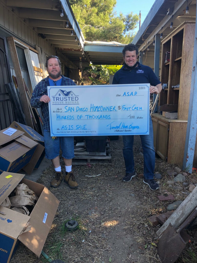 San Diego Home Owner's Giant Check