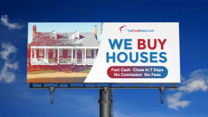 we buy houses sign with Fair Cash Deal