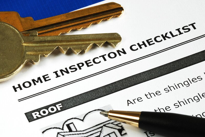 Paperwork for a home inspection