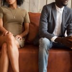 Couple waiting to talk to divorce attorney