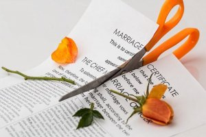 Cutting up a marriage certification