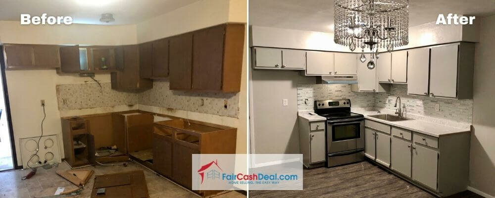 a house bought for cash before and after by Fair Cash Deal