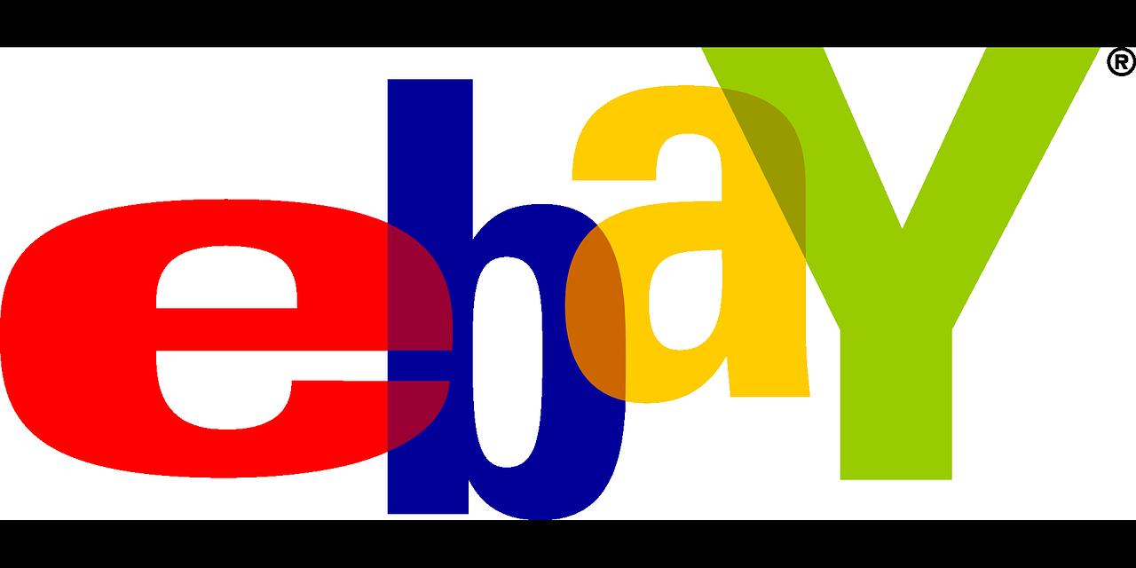 ebay logo isolated on white background