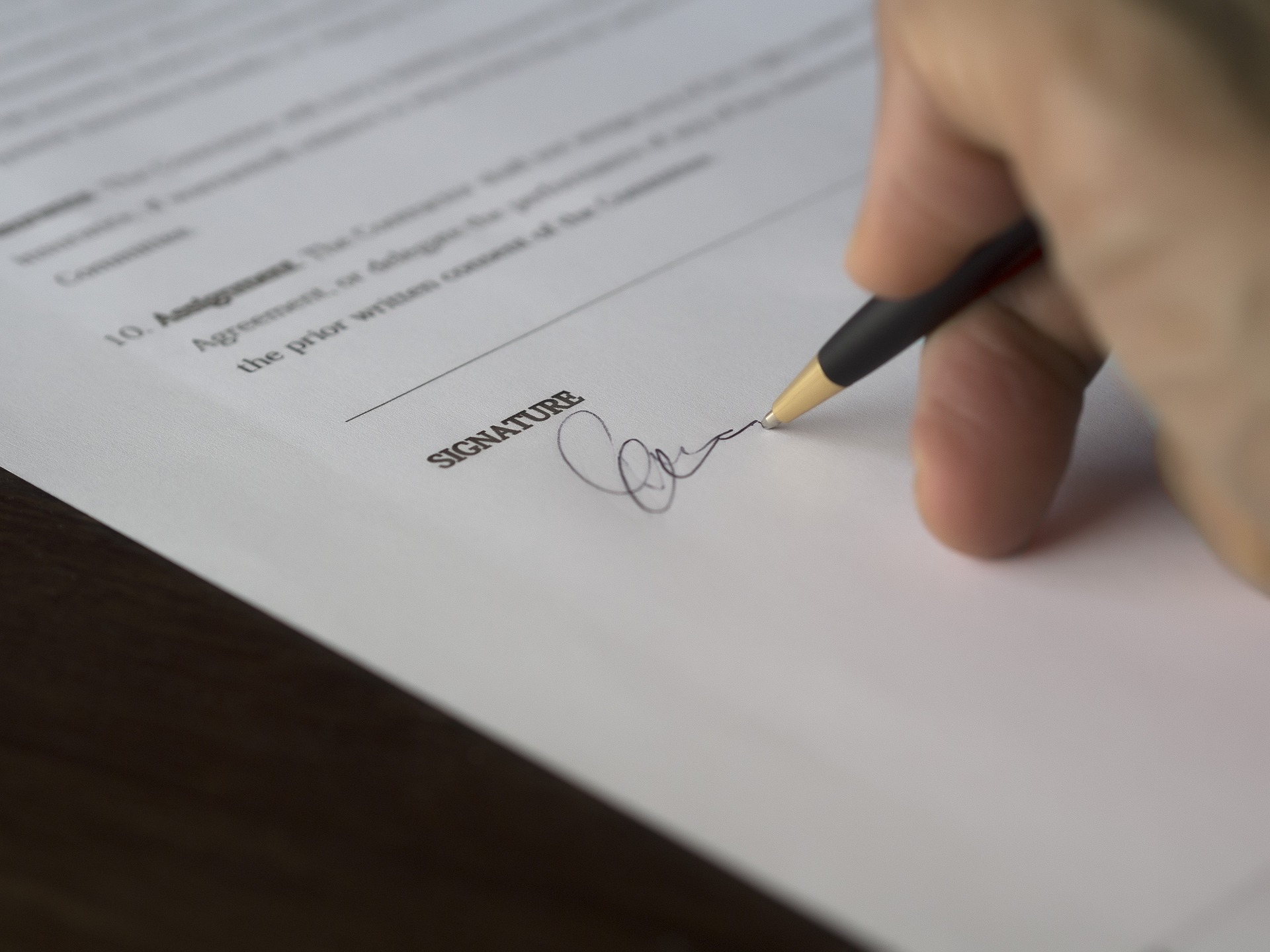 Sign a Contract