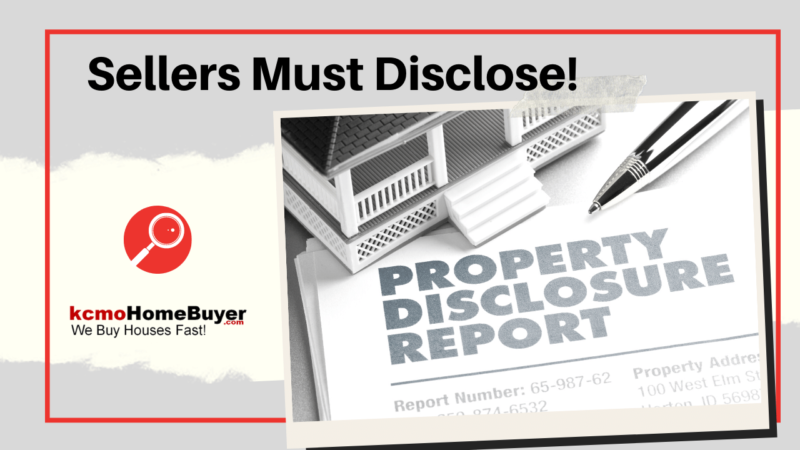 Seller's Must Disclose