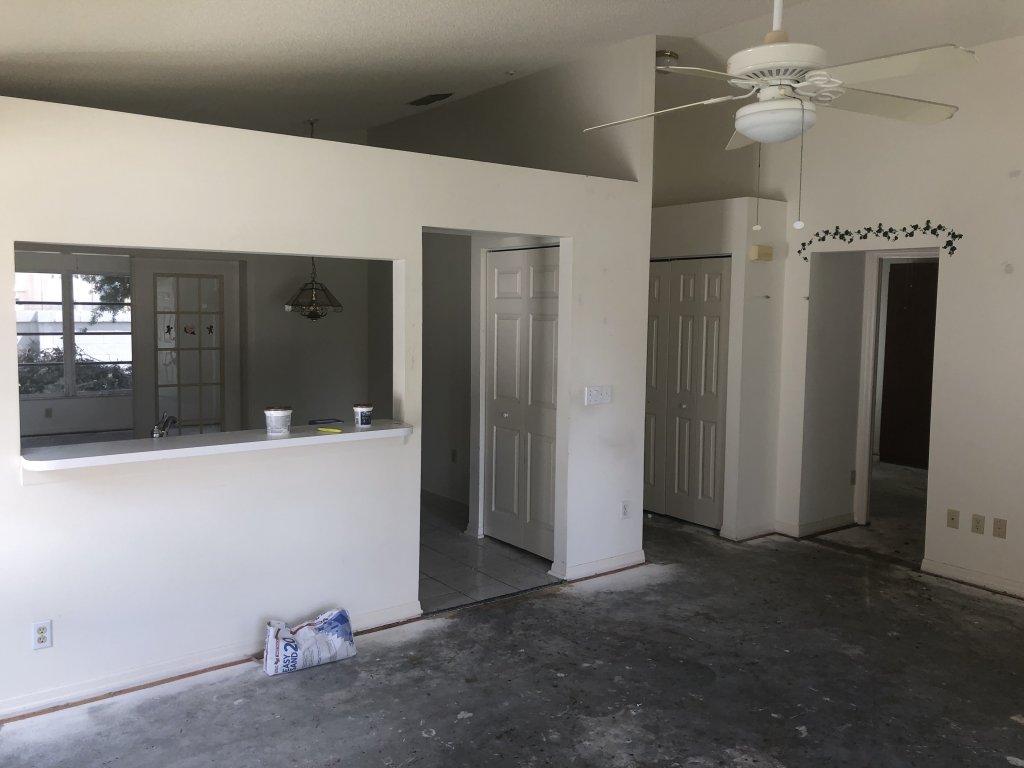 work underway at an inherited house we bought in Orlando FL