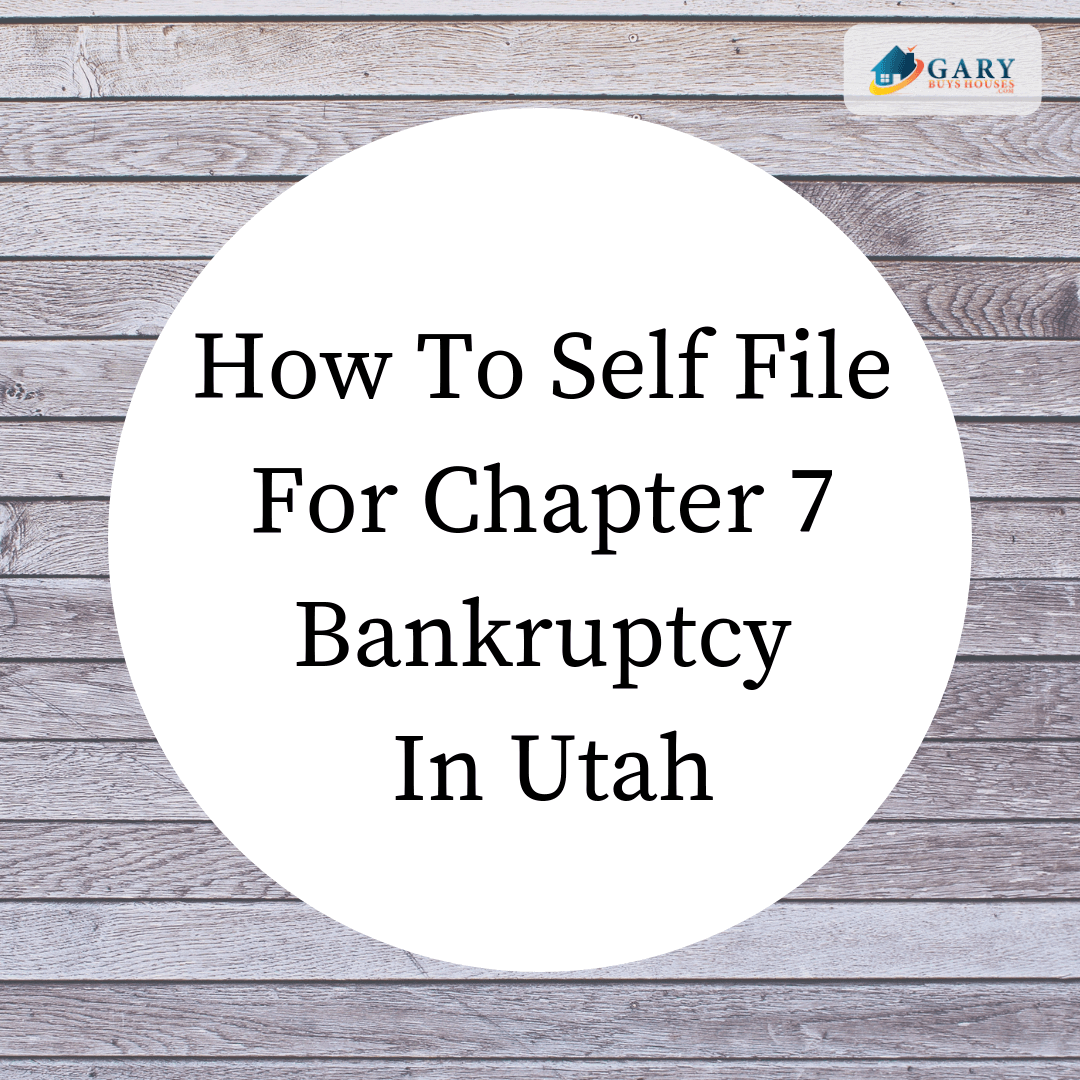 wood sign says how to self file ch 7 bankruptcy