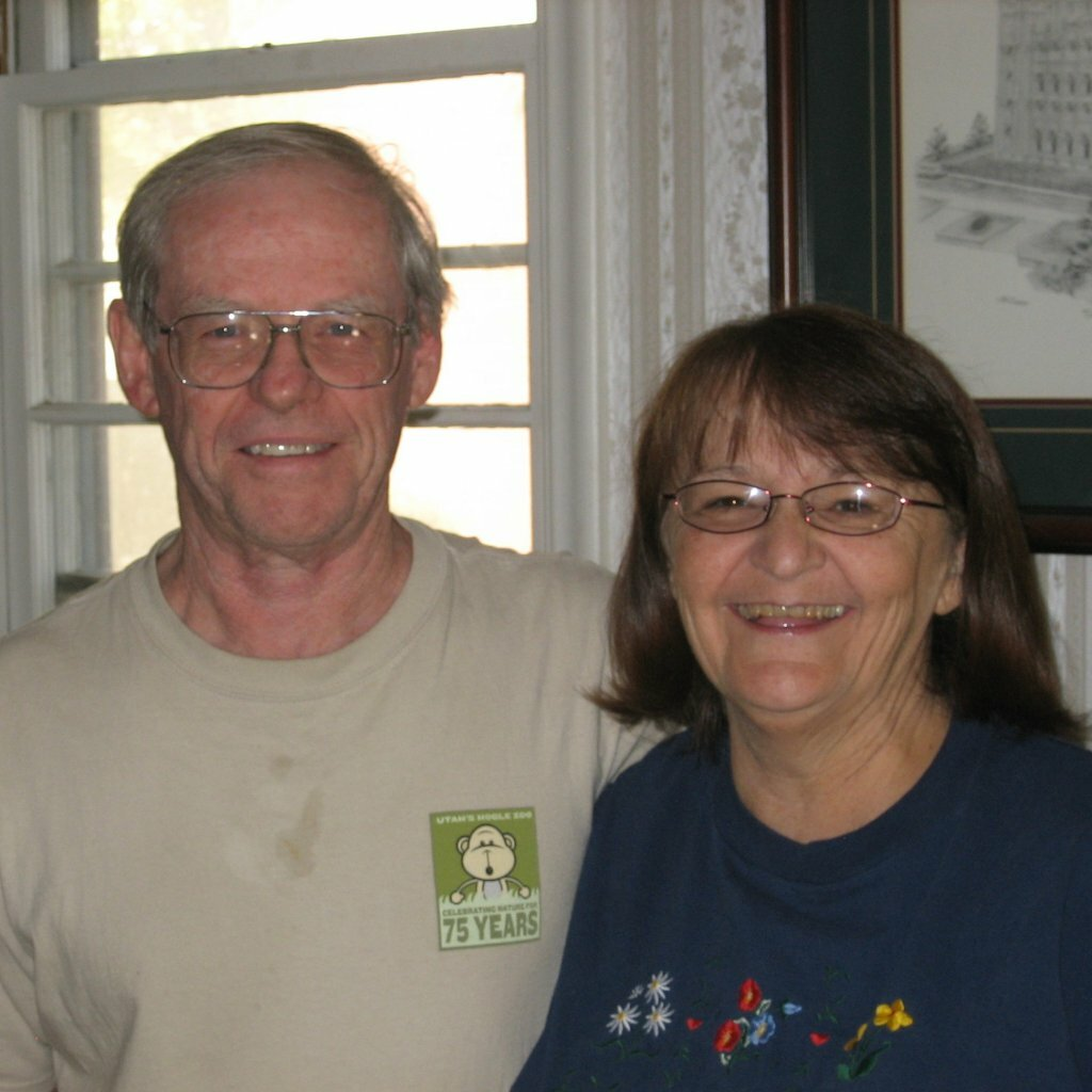Norm & Lynda Cox in their living room with us to stop foreclosure