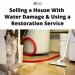 selling a house water damage wall and floor and shop vac