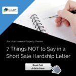 7 Things NOT to Say in a Short Sale Hardship Letter